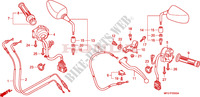 LEVER   SWITCH   CABLE for Honda CB 600 F HORNET ABS BLANCHE 2009