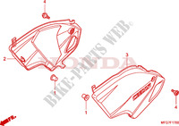 SIDE COVERS for Honda CB 600 F HORNET ABS BLANCHE 2009