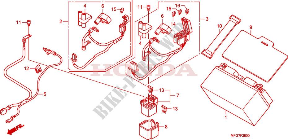 Battery For Honda Cb 600 F Hornet 2009   Honda Motorcycles