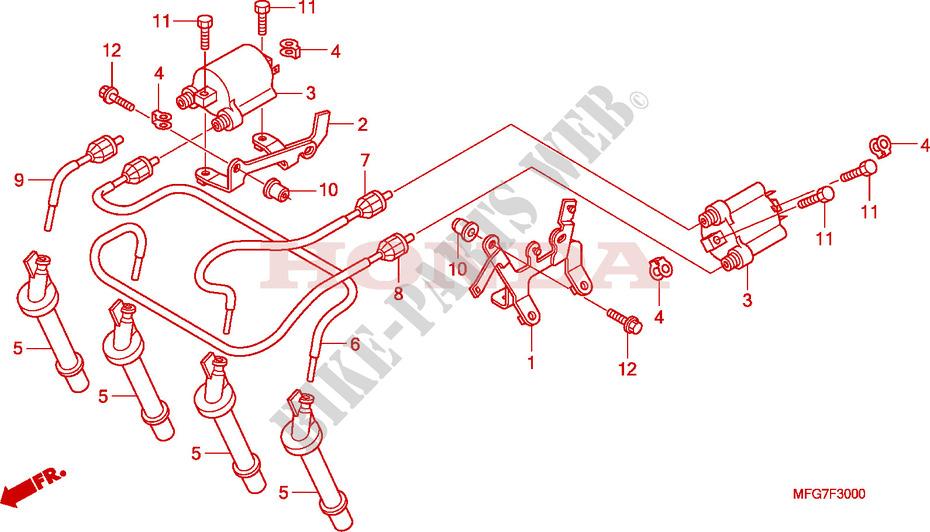 Ignition Coil For Honda Cb 600 F Hornet Abs 2008   Honda