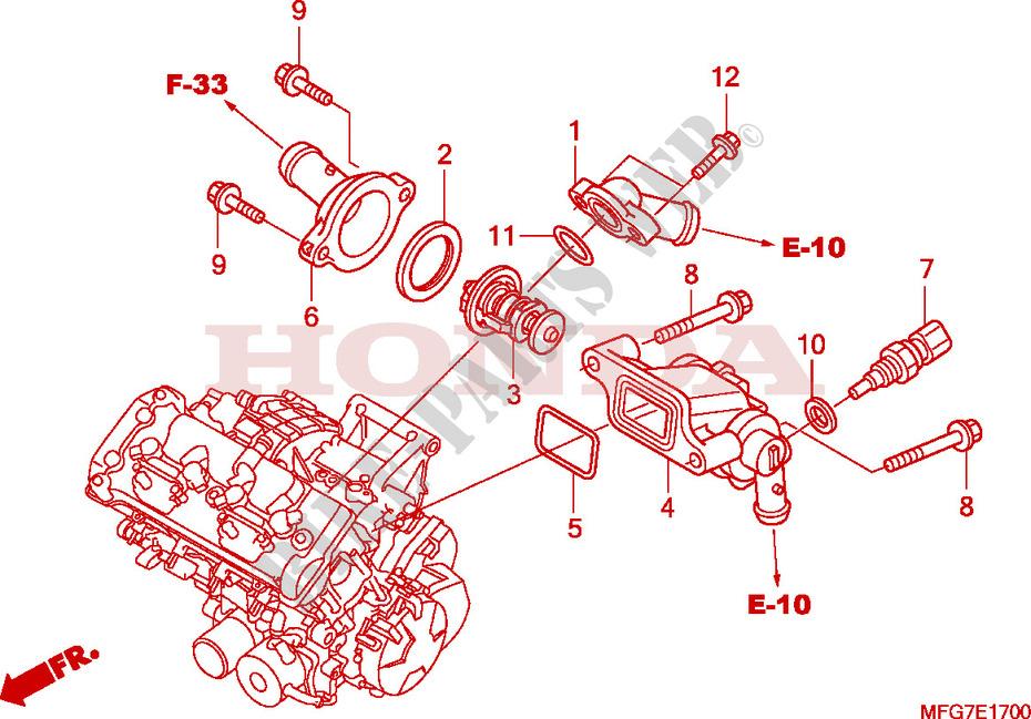 CB 600 F 98-04 Z/ündungsdeckel CB 900 F 02-06 grau