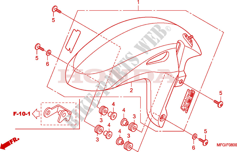 F__0800 front fender cb 600 f hornet cb600fb 2011 europe cb600fb honda hornet 740t wiring diagram at crackthecode.co