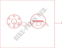 CRANKCASE COVER SET PEARL COOL WHITE Honda motorcycle microfiche diagram CBR600FAB 2011 CBR 600 F ABS