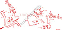 HANDLE LEVER/SWITCH/CABLE Honda motorcycle microfiche diagram CBR600FAB 2011 CBR 600 F ABS