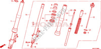 FRONT FORK Honda motorcycle microfiche diagram CBR600FAB 2011 CBR 600 F ABS