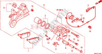 REAR BRAKE CALIPER(CBR600 FA) Honda motorcycle microfiche diagram CBR600FAB 2011 CBR 600 F ABS