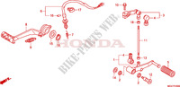 PEDAL Honda motorcycle microfiche diagram CBR600FAB 2011 CBR 600 F ABS
