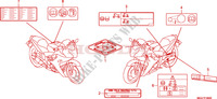 CAUTION LABEL Honda motorcycle microfiche diagram CBR600FAB 2011 CBR 600 F ABS