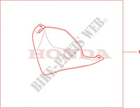 HIGH WINDSCREEN Accessories 600 honda-motorcycle CBR 2011 08R8001