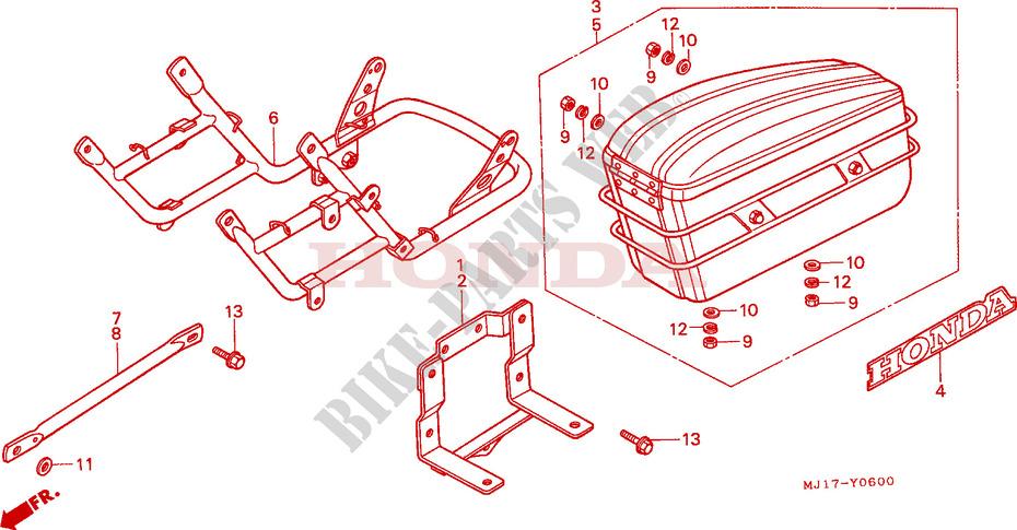 honda moto 750 cbx 1987 cbx750p2h frame side box/bumper (1)