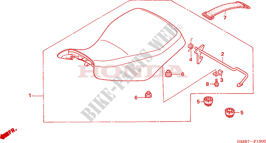 Seat For Honda Fourtrax 250 Recon Electric Shift 2006