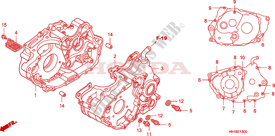 Honda OEM Part 11191-HN1-A40