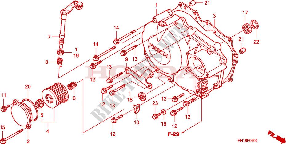 Right Crankcase Cover For Honda Fourtrax Sport 400 Ex 2007   Honda Motorcycles  U0026 Atvs Genuine