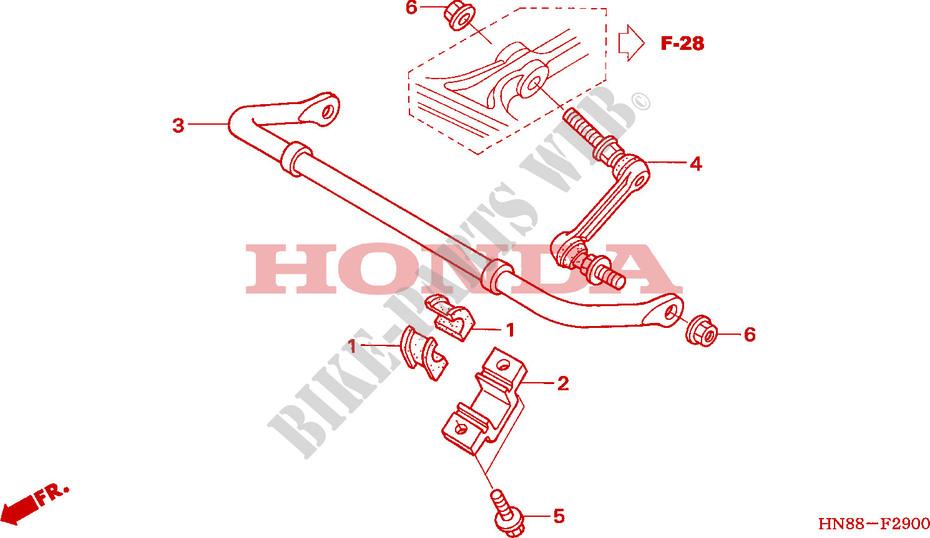 Anti Roll Bar For Honda Fourtrax 680 Rincon 2009   Honda