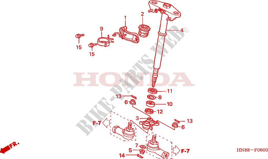 Honda OEM Part 53221-HN8-003