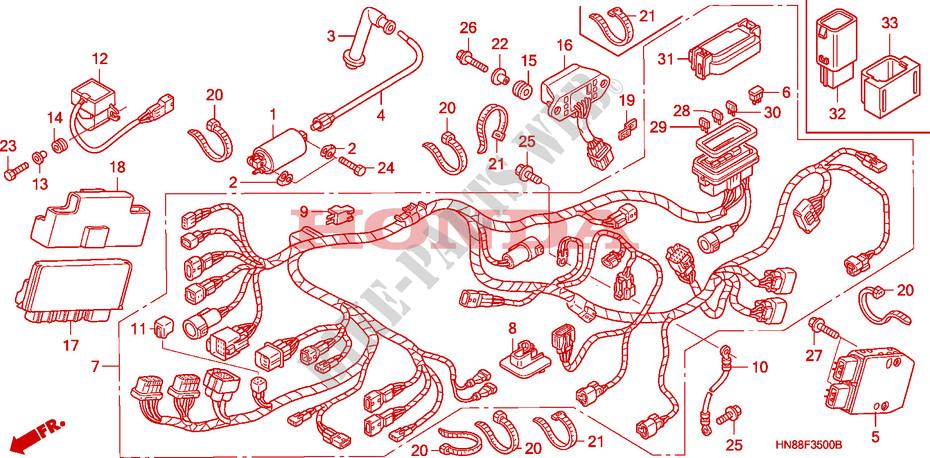 Wire Harness For Honda Fourtrax 680 Rincon 2006   Honda