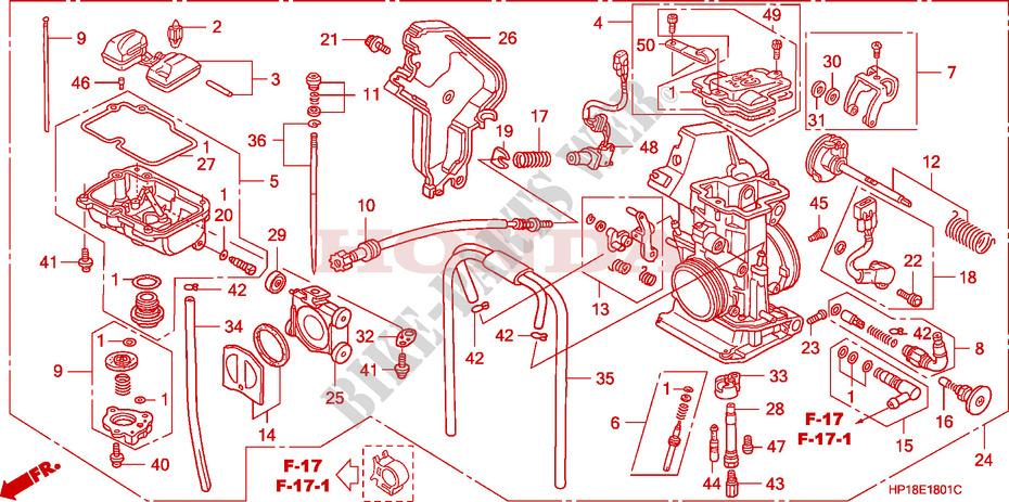 2006 Honda Trx450r Carburetor Diagram