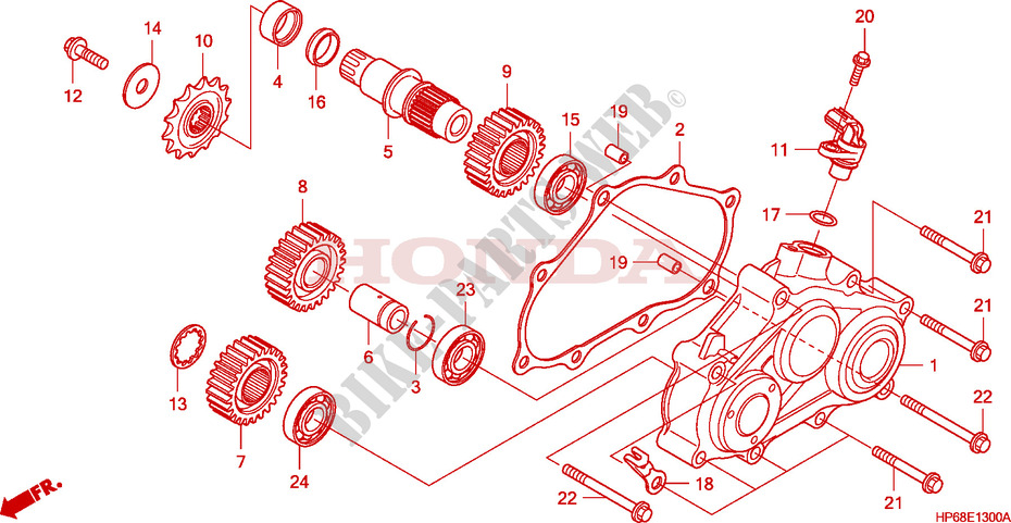 HONDA TRX700XX 700XX ENGINE STARTER REDUCTION GEAR COVER GASKET 11375-HP6-A00