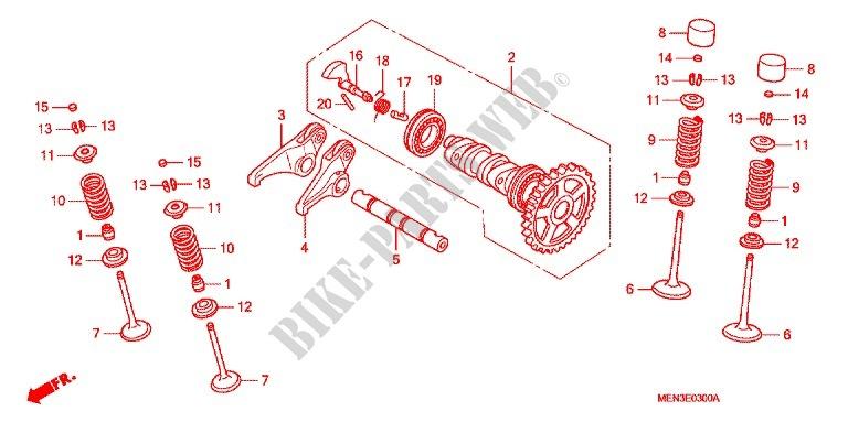 Camshaft Valve Engine Crf450r9 2009 Crf 450 Moto Honda Motorcycle. Honda Moto 450 Crf 2009 Crf450r9 Engine Camshaftvalve. Honda. Honda Crf 450 Engine Diagram At Scoala.co