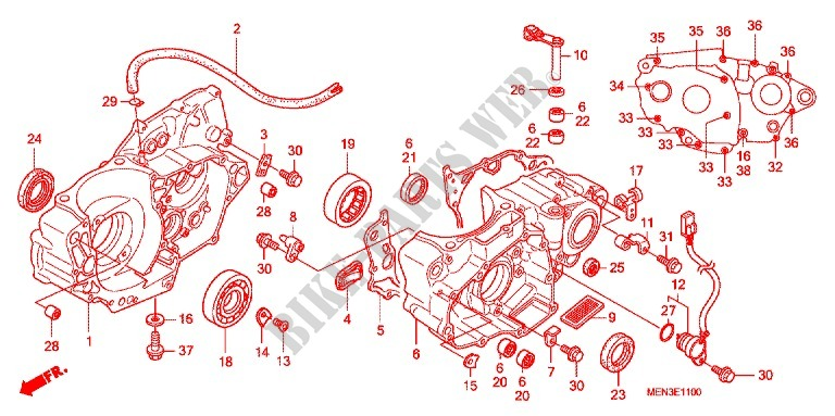 Crankcase Oil Pump Engine Crf450r9 2009 Crf 450 Moto Honda. Honda Moto 450 Crf 2009 Crf450r9 Engine Crankcaseoil Pump. Honda. Honda Crf 450 Engine Diagram At Scoala.co