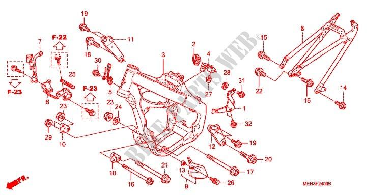 Frame For Honda Crf 450 R 2009   Honda Motorcycles  U0026 Atvs