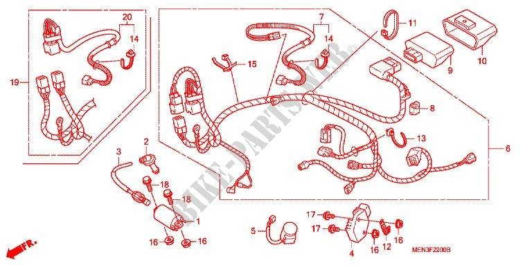Honda Moto 450 Crf 2011 Crf450rb Frame Wire Harnessbattery: Honda Crf Regulator Rectifier Wiring At Hrqsolutions.co