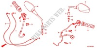 SWITCH/CABLE/HANDLE LEVER (2) Frame 800 honda-motorcycle CROSSRUNNER 2011 F_03