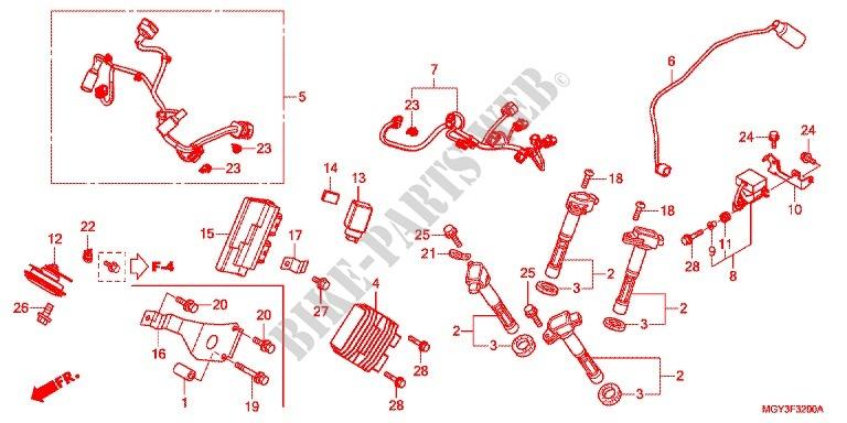 Sub Harness Ignition Coil For Honda Crossrunner 800 2011