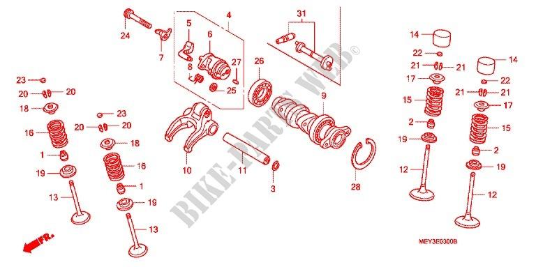 Camshaft For Honda Crf 450 X 2011   Honda Motorcycles  U0026 Atvs Genuine Spare Parts Catalog
