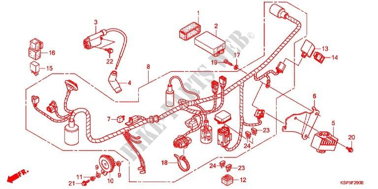 Wire Harness  Battery For Honda Cb 150 Invicta 2011   Honda Motorcycles  U0026 Atvs Genuine Spare