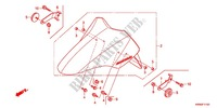 FRONT FORK/FRONT FENDER Honda motorcycle microfiche diagram WW125EX2A 2010 PCX 125