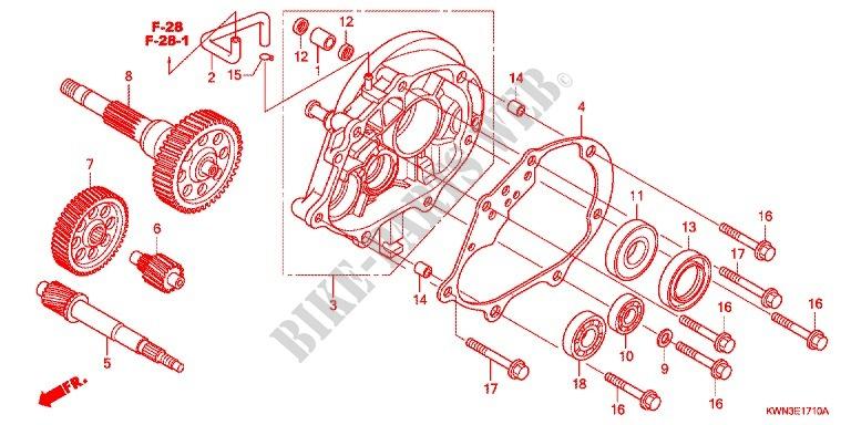 Gearbox For Honda Pcx 125 2011   Honda Motorcycles  U0026 Atvs