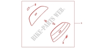 COLOUR PANEL SET PEARL SIENNA RED Accessories 1000 honda-motorcycle CBF 2012 08F8403