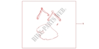 MAT SET 35 L TOP BOX Accessories 1000 honda-motorcycle CBF 2012 08P1101