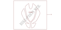 TANK PAD TULIP SHAPE Accessories 1000 honda-motorcycle CBF 2012 08P6106
