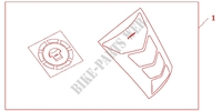 TANKPAD / FUEL LID COVER Accessories 1000 honda-motorcycle CBF 2012 08P6104
