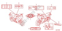 CAUTION LABEL (1) Frame 600 honda-motorcycle CBR 2012 F_36