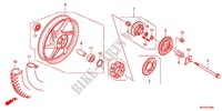 --- ROUE ARRIERE (MOULURE) Honda motorcycle microfiche diagram CGX125SHC 2012 CGX 125 Casted Wheels