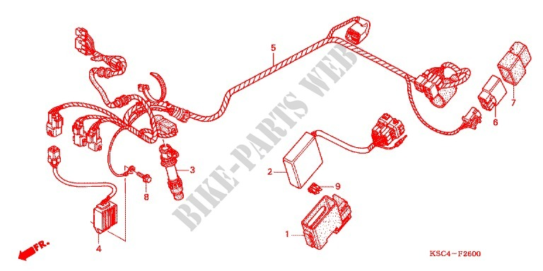 WIRE HARNESS/BATTERY for Honda CRF 250 X 2012 # HONDA ... on