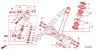 STEERING STEM/TOP BRIDGE Honda motorcycle microfiche diagram CRF450RC 2012 CRF 450 R