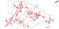 REAR BRAKE CALIPER Honda motorcycle microfiche diagram CRF450RC 2012 CRF 450 R