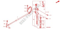REAR BRAKE MASTER CYLINDER Honda motorcycle microfiche diagram CRF450RC 2012 CRF 450 R