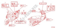 CAUTION LABEL (1) Frame 125 honda-motorcycle SH 2012 F_29