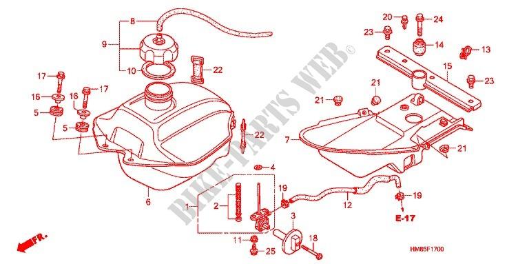 Honda OEM Part 17521-HA2-670