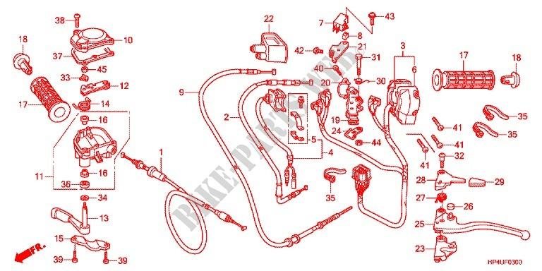 Handle Lever Switch Cable 1 Frame Trx420fpec 2012 Fourtrax 420 ATV. Honda ATV 420 Fourtrax 2012 Trx420fpec Frame Handle Leverswitchcable 1. Honda. 2012 Honda Rancher Parts Diagram At Scoala.co