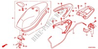 SINGLE SEAT (2) Honda motorcycle microfiche diagram WW125EX2C 2012 PCX 125 LIMITED EDITION