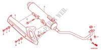 EXHAUST MUFFLER (2) Honda motorcycle microfiche diagram WW125EX2C 2012 PCX 125 LIMITED EDITION