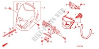 HEADLIGHT/SPEEDOMETER (2) Honda motorcycle microfiche diagram XRE300AC 2012 XRE 300 ABS