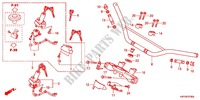 HANDLE PIPE/TOP BRIDGE (2) Honda motorcycle microfiche diagram XRE300AC 2012 XRE 300 ABS