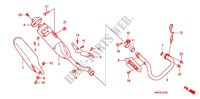 EXHAUST MUFFLER (2) Honda motorcycle microfiche diagram XRE300AC 2012 XRE 300 ABS